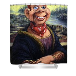 Shower Curtain featuring the painting Howdy Doovinci by James W Johnson