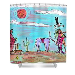 Howdy Pardner...the Frontier Awaits Shower Curtain