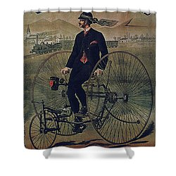 Howe Bicycles Tricycles Vintage Cycle Poster Shower Curtain