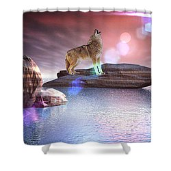 Howling Wolf Beloved Shower Curtain
