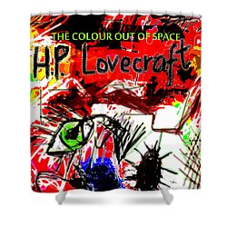 Hp Lovecraft Poster Shower Curtain
