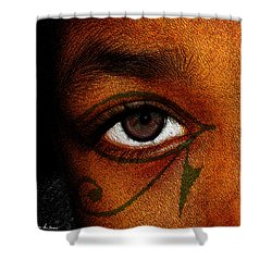 Hru's Eye Shower Curtain by Iowan Stone-Flowers