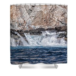 Huatulco's Texture Shower Curtain