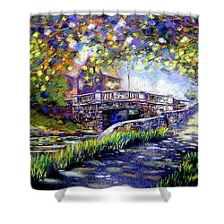 Huband Bridge Dublin City Shower Curtain by John  Nolan