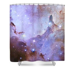 Shower Curtain featuring the photograph Hubble Space Telescope Celebrates 25 Years Of Unveiling The Universe by Nasa