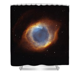 Hubble Telescope Image Of The Helix Shower Curtain by Nasa