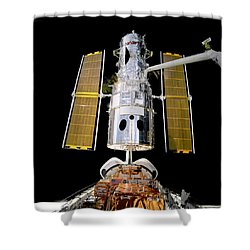 Hubble Telescope Redeployment Shower Curtain by Jennifer Rondinelli Reilly - Fine Art Photography
