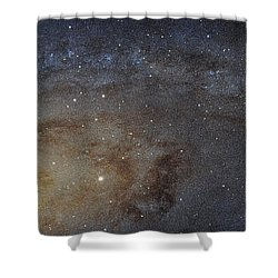 Shower Curtain featuring the photograph Hubble's High-definition Panoramic View Of The Andromeda Galaxy by Adam Romanowicz