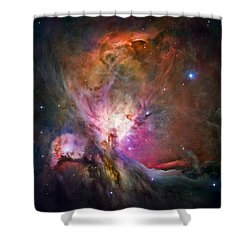 Hubble's Sharpest View Of The Orion Nebula Shower Curtain by Adam Romanowicz