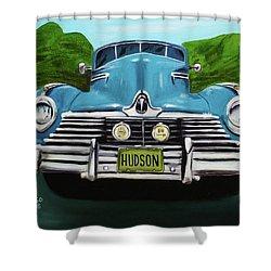 Hudson Blue Shower Curtain