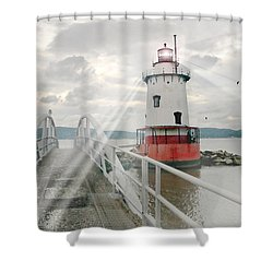 Hudson Light Shower Curtain by Diana Angstadt