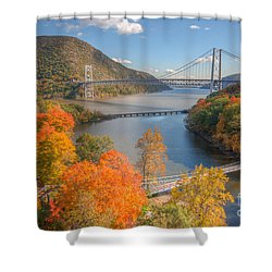 Hudson River And Bridges Shower Curtain