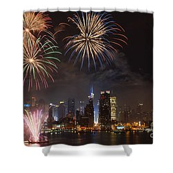 Hudson River Fireworks Iv Shower Curtain