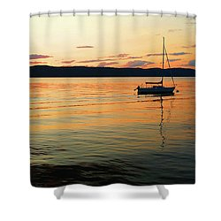 Hudson River From Irvington In Westchester County Shower Curtain