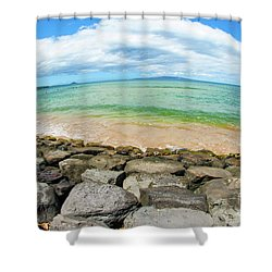 Shower Curtain featuring the photograph Huge Wikiki Beach by Micah May