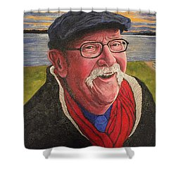 Shower Curtain featuring the painting Hugh Hanson Davidson by Tom Roderick