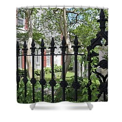 Shower Curtain featuring the photograph Huguenot Church Cemetery by Gina Savage