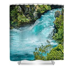 Huka Falls Shower Curtain by Racheal Christian