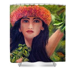 Hula Dancer Kahiko #422 Shower Curtain by Donald k Hall
