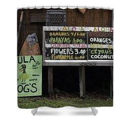 Hula Dogs Shower Curtain