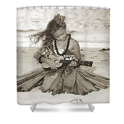 Hula Girl Shower Curtain by Himani - Printscapes
