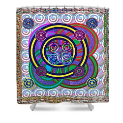 Hula Hoop Circles Tubes Girls Games Abstract Colorful Wallart Interior Decorations Artwork By Navinj Shower Curtain