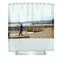 Hula Hoop Dance Shower Curtain