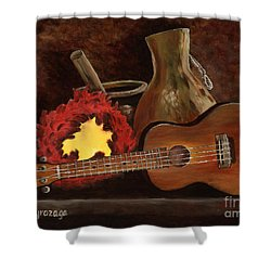 Hula Implements Shower Curtain