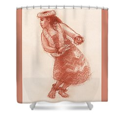 Hula Waikoloa Shower Curtain