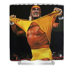 Hulk Hogan Oil On Canvas Shower Curtain