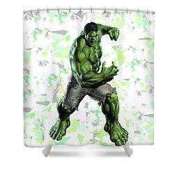 Hulk Splash Super Hero Series Shower Curtain