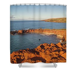 Hulopoe Beach Sunrise Shower Curtain