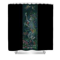 Hum Shower Curtain by Dawn Fairies