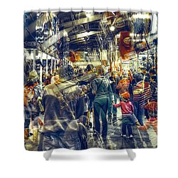 Shower Curtain featuring the photograph Human Traffic by Wayne Sherriff