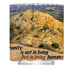 Humanity Reworked Shower Curtain by David Norman