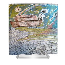 Humanity's Redemption At Mount Ararat Shower Curtain by Andrew Blitman