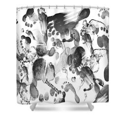 Humans Shower Curtain by Sladjana Lazarevic