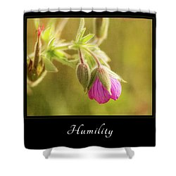 Humility 3 Shower Curtain by Mary Jo Allen