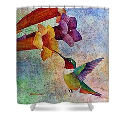 Hummer Time Shower Curtain by Hailey E Herrera