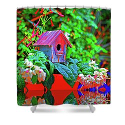 Humming Bird House Shower Curtain