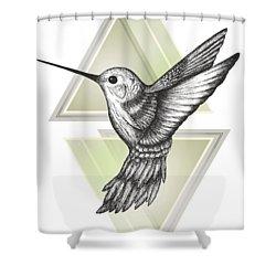Hummingbird Shower Curtain by Barlena