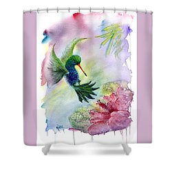 Hummingbird Happiness Shower Curtain