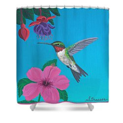 Hummingbird Heaven Shower Curtain by Frank Strasser