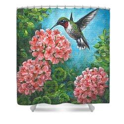 Hummingbird Heaven Shower Curtain