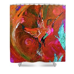 Hummingbird Shower Curtain by Lisa Kaiser