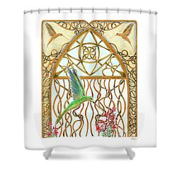 Hummingbird Sanctuary Shower Curtain