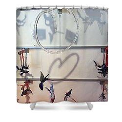 Hummingbird Shadows Shower Curtain