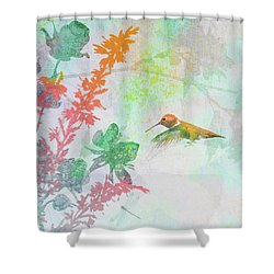Hummingbird Summer Shower Curtain
