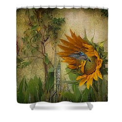 Hummingbirds In My Garden Shower Curtain