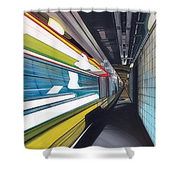 Humphrey Terminal Shower Curtain by Jude Labuszewski